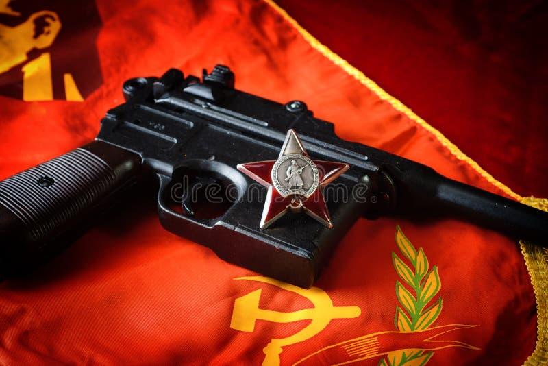Symboler av revolutionen arkivfoto