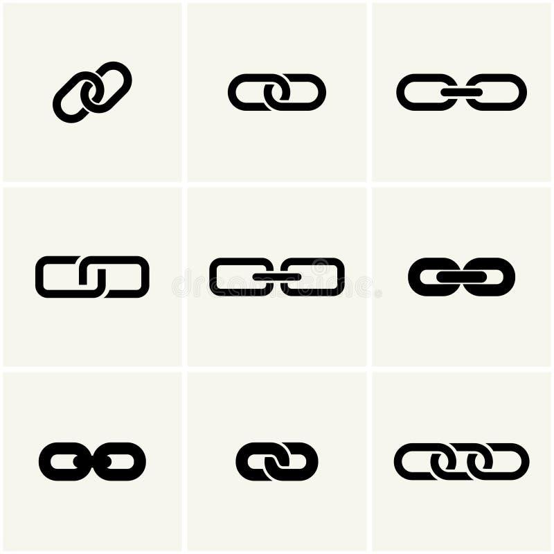 Symboler av sammanlänkningen vektor illustrationer