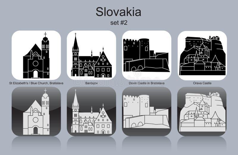 Symboler av Slovakien vektor illustrationer