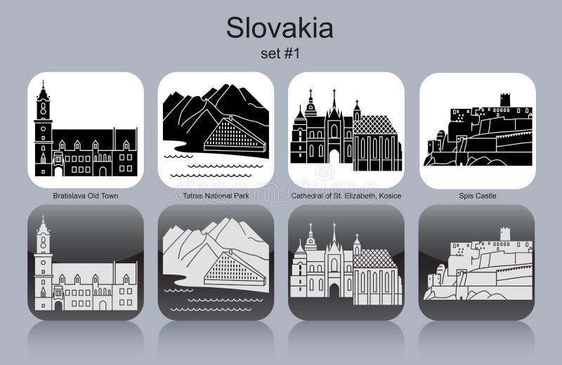 Symboler av Slovakien royaltyfri illustrationer