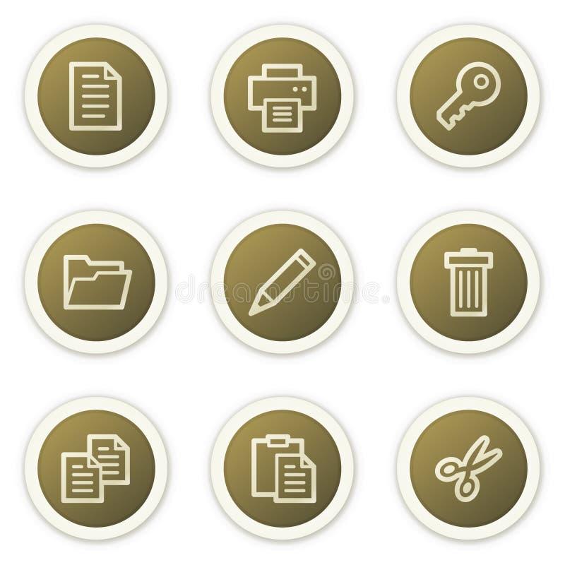 symboler för 1 förlaga ställde in rengöringsduk royaltyfri illustrationer