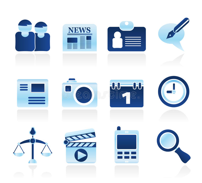 symboler för affärsdator site rengöringsduk royaltyfri illustrationer