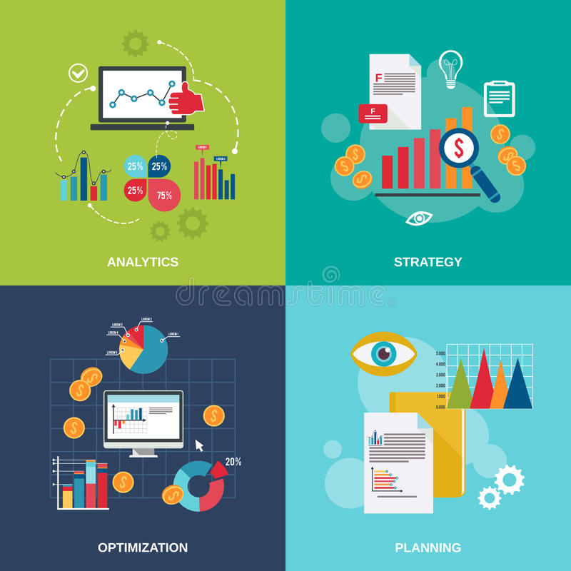 Symboler för affärsdiagram sänker uppsättningen vektor illustrationer