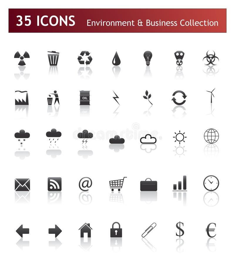 symboler för affärsmiljö royaltyfri illustrationer
