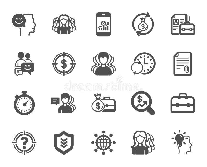 symboler för ai-affär cs2 eps inkluderar Grupp-, profil- och portföljfall vektor royaltyfri illustrationer