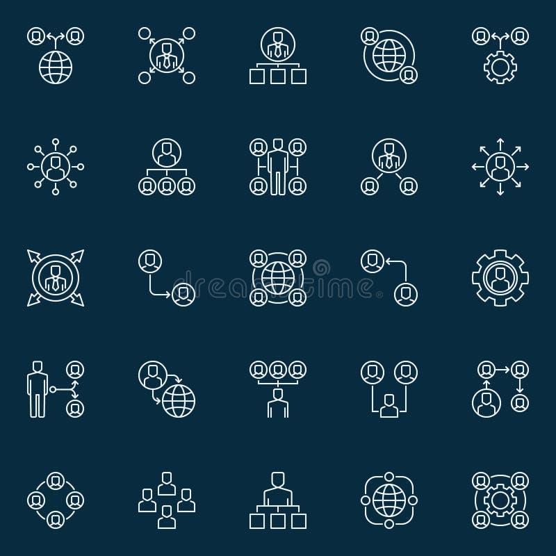 Symboler för begrepp för vektorentreprenadiseringöversikt eller designbeståndsdelar vektor illustrationer