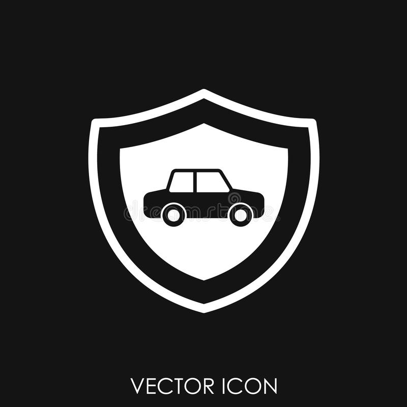 Symboler för bilförsäkring vektor illustrationer