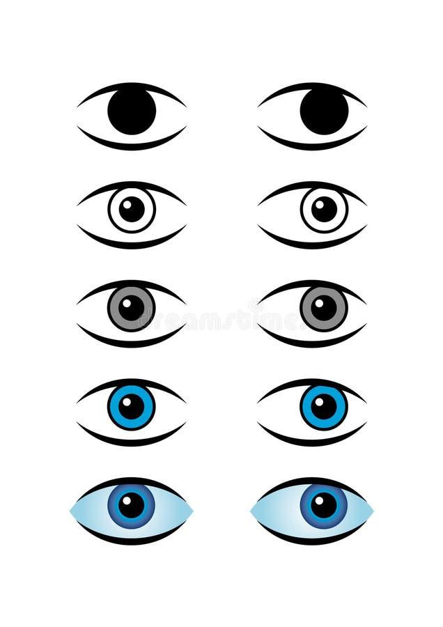 symboler för blått öga royaltyfria foton
