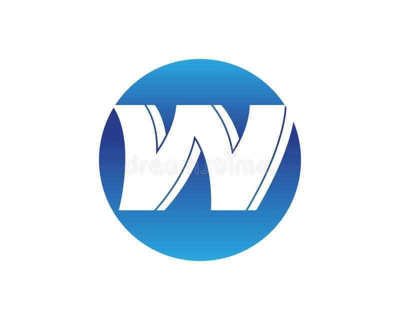 Symboler för bokstavsW-vektor sådana logoer stock illustrationer