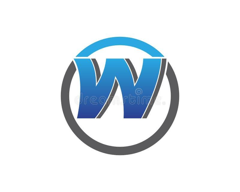 Symboler för bokstavsW-vektor sådana logoer vektor illustrationer