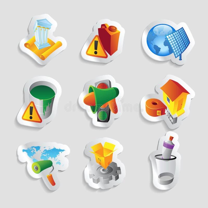 Symboler för bransch stock illustrationer