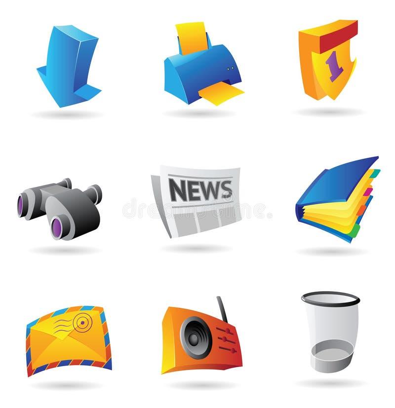 Symboler för datormanöverenhet royaltyfri illustrationer
