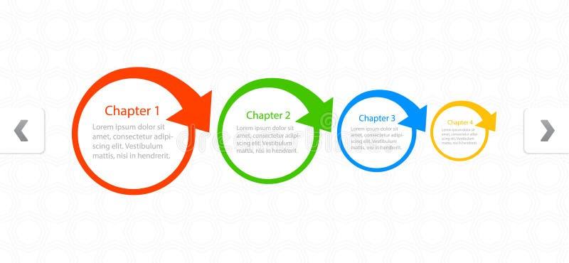 Symboler för design för Websiteorienteringsfärg royaltyfri illustrationer
