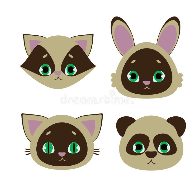 Symboler för djur stock illustrationer