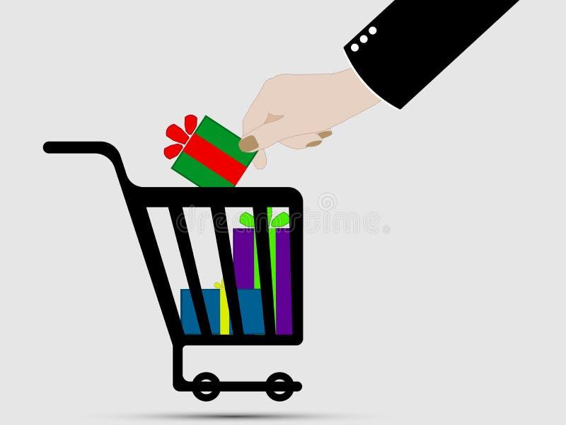 Symboler för ecommerce för shoppingvagn royaltyfri illustrationer