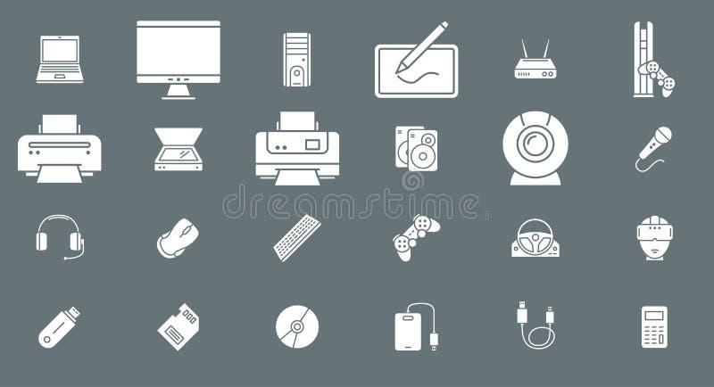 Symboler 02 för elektroniska apparater stock illustrationer