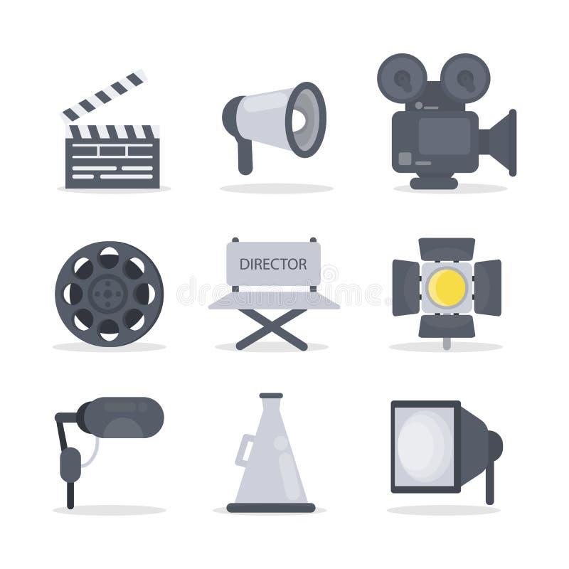 Symboler för filmdirektör vektor illustrationer