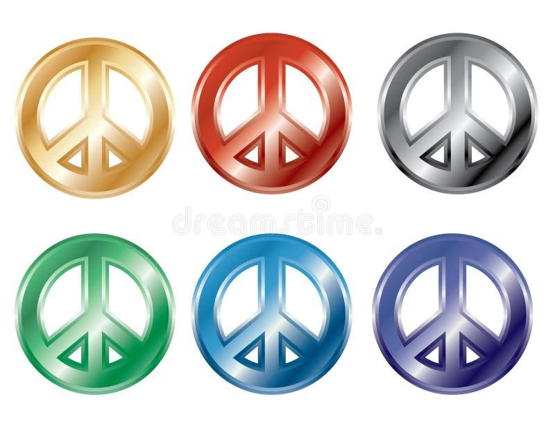 symboler för fred 3D royaltyfri illustrationer