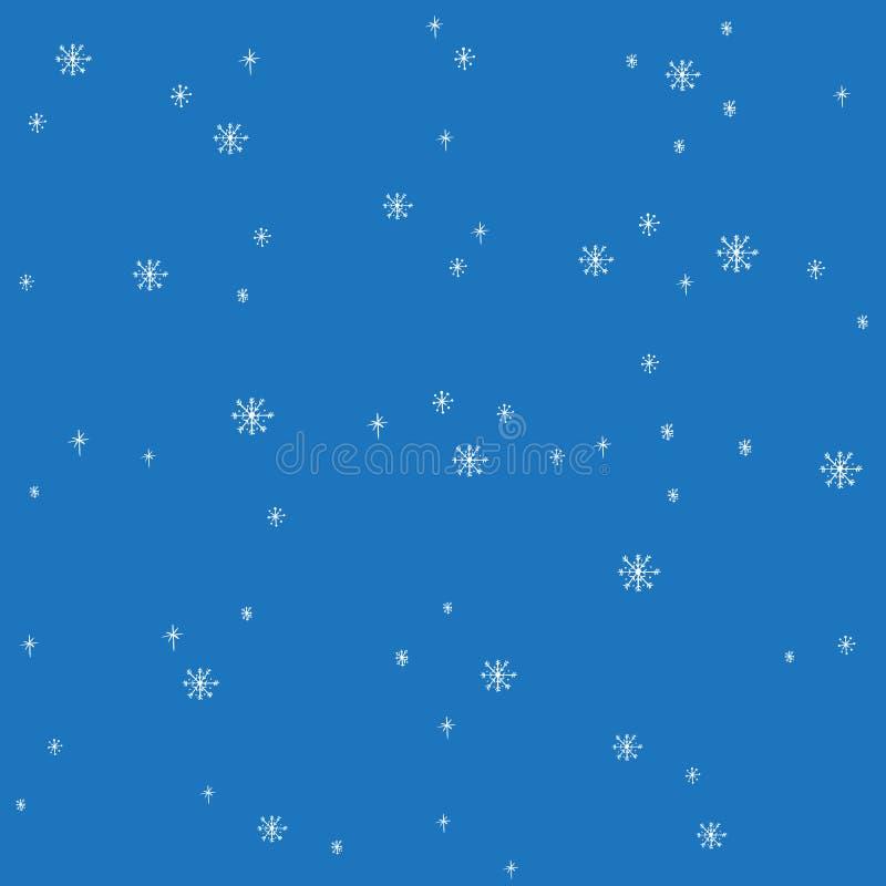 Symboler för garnering för frost för jul för stjärna för snöflingavektor snöar symboler fryste design för ferie för Xmas för vint stock illustrationer