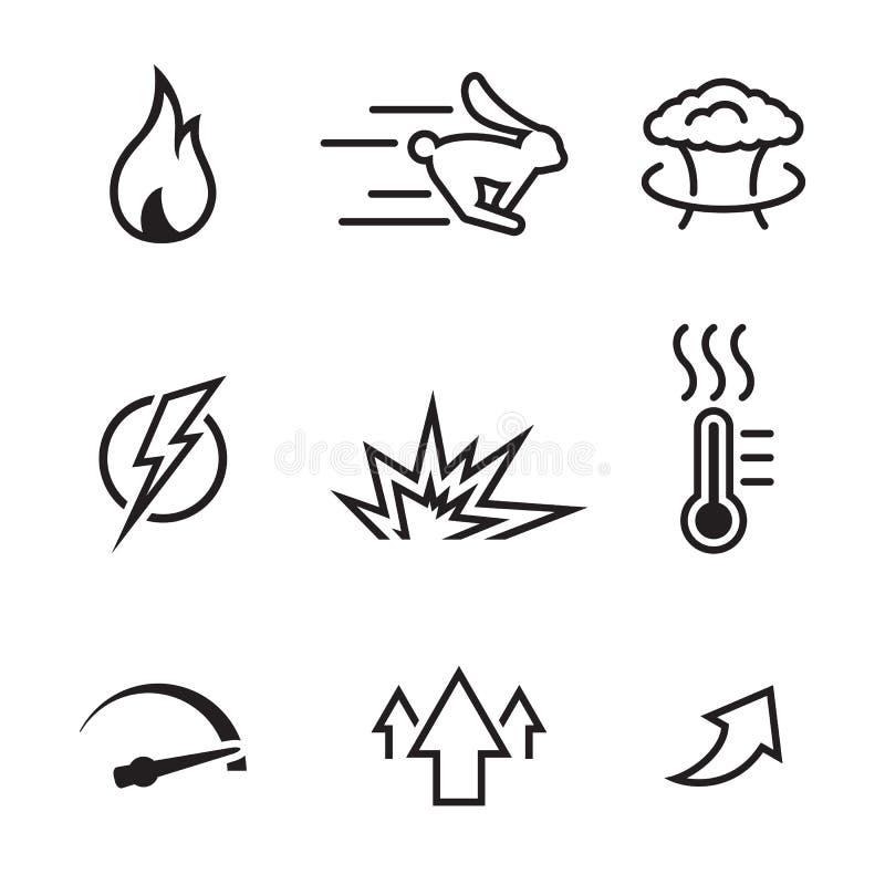 Symboler för hög kapacitet stock illustrationer