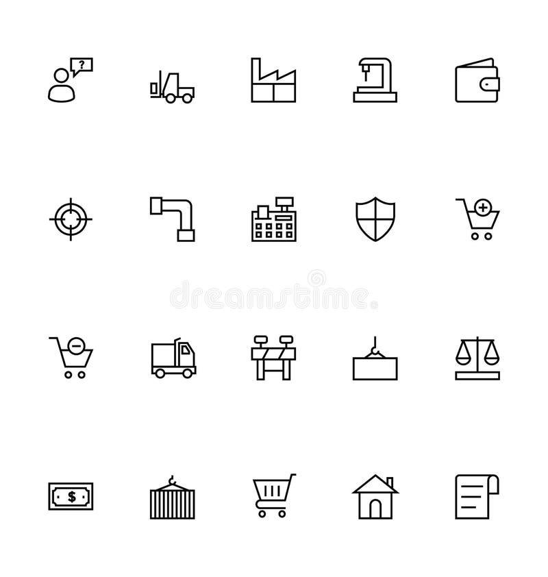 Symboler 4 för handelöversiktsvektor vektor illustrationer