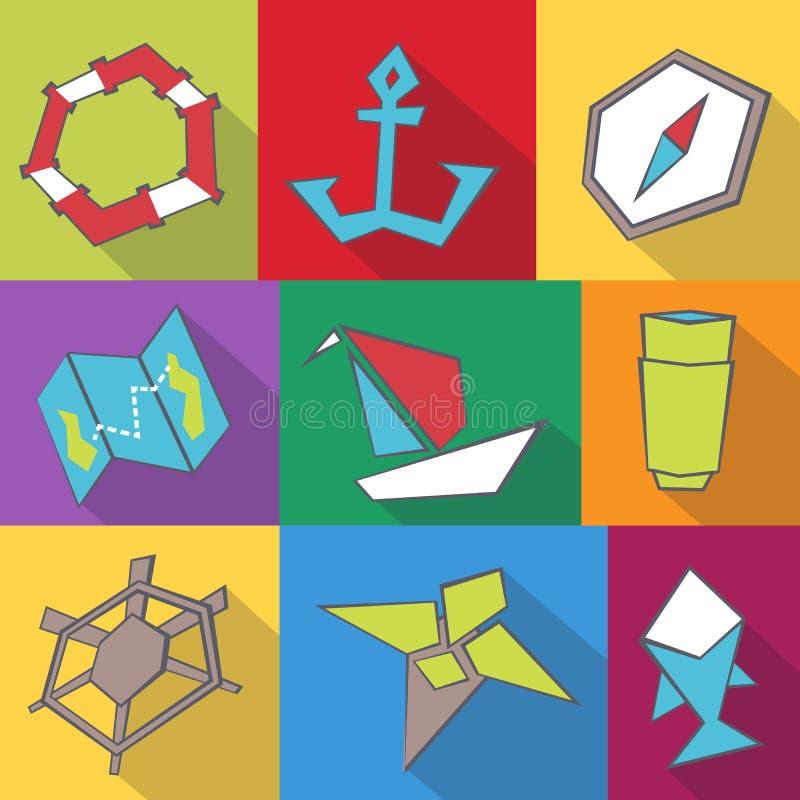 Symboler för havslopp vektor illustrationer