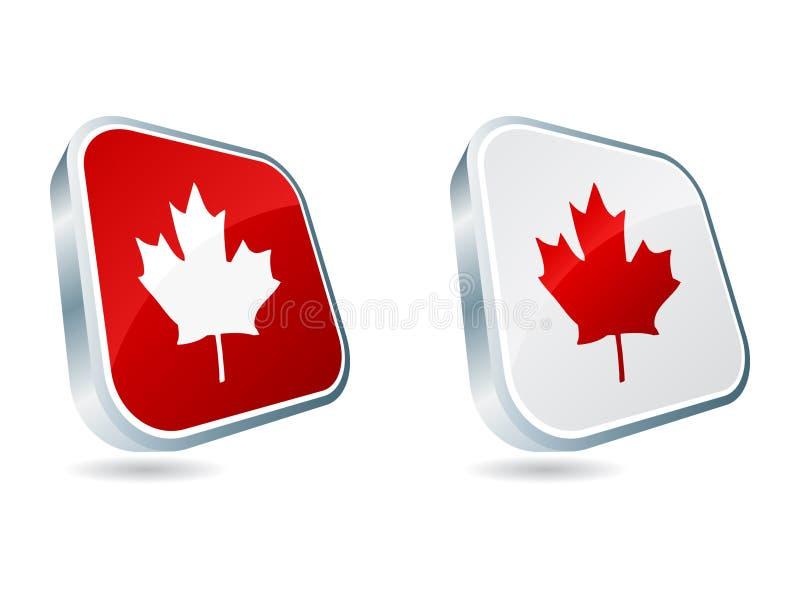 symboler för kanadensare 3d vektor illustrationer