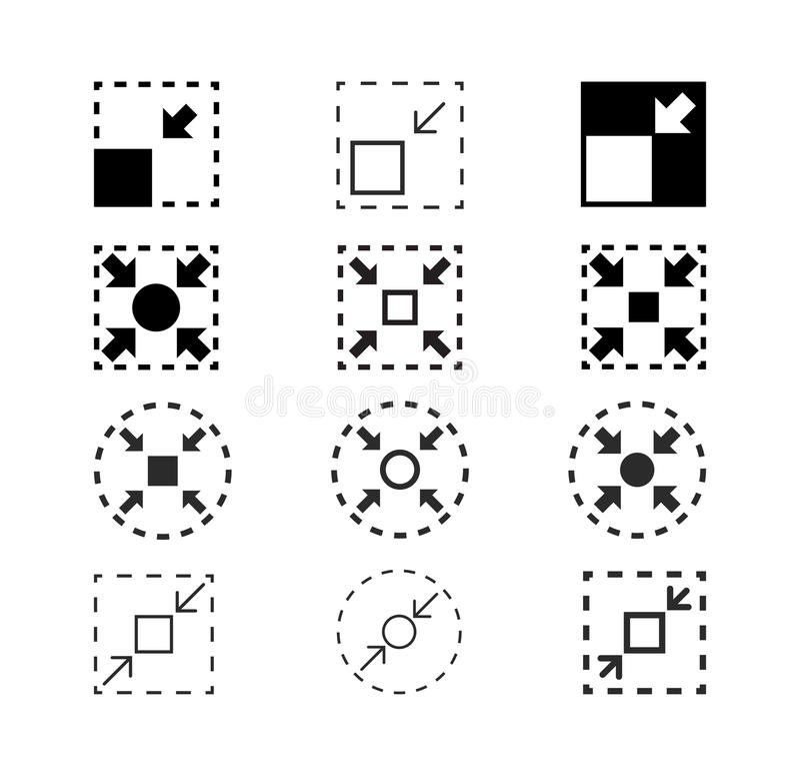 Symboler för kompakt format, vektorillustration vektor illustrationer