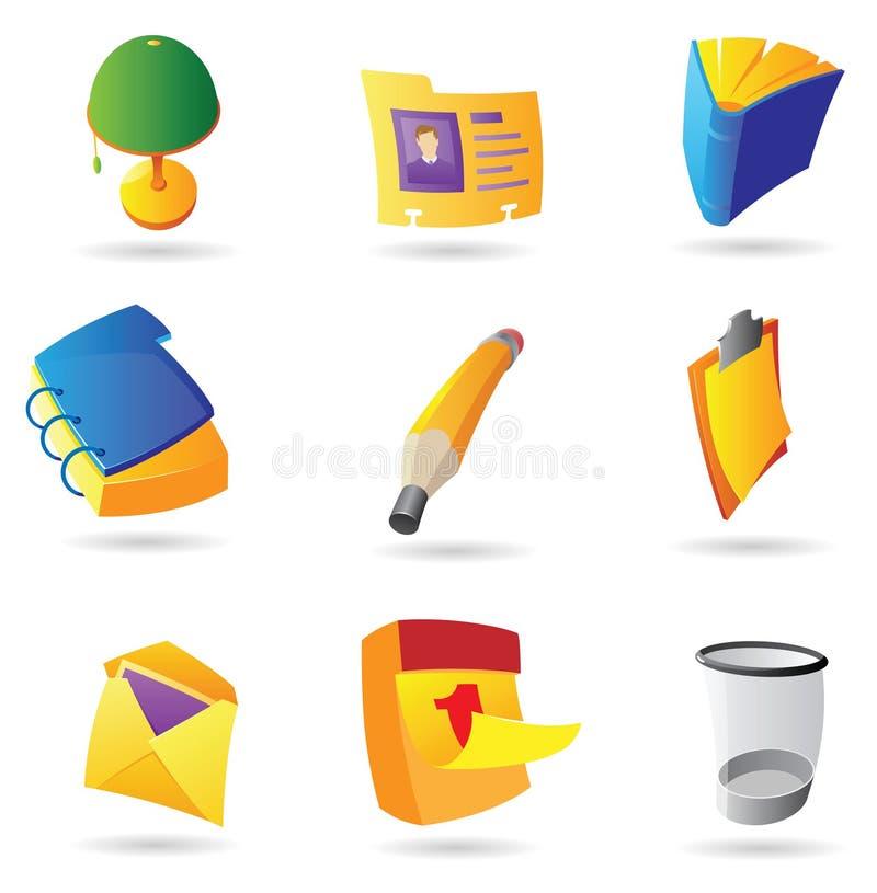 Symboler för kontor vektor illustrationer