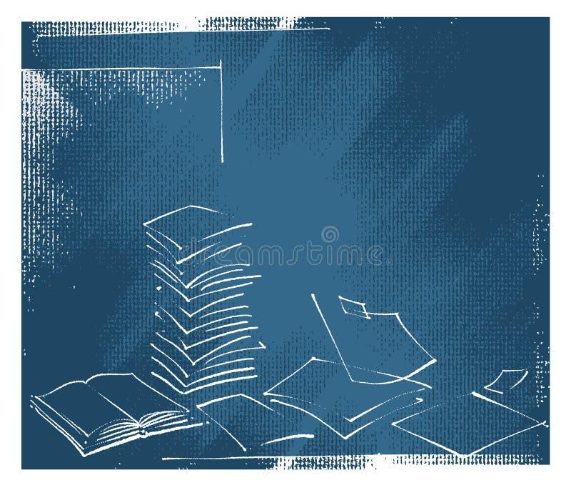 symboler för kontor för bakgrundsbokförlagor öppna vektor illustrationer