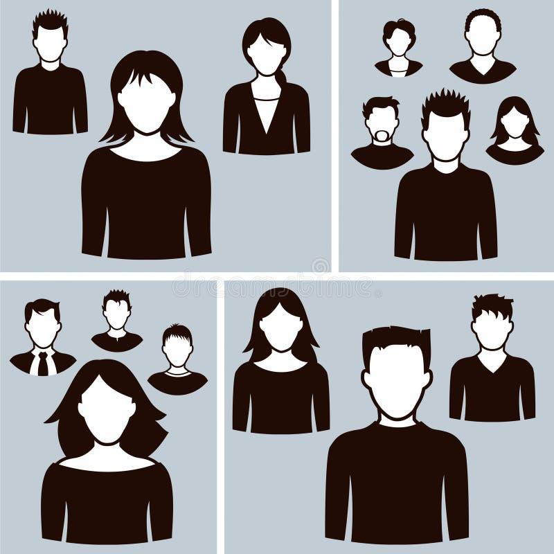 Symboler för kontorsaffärsfolk royaltyfri illustrationer