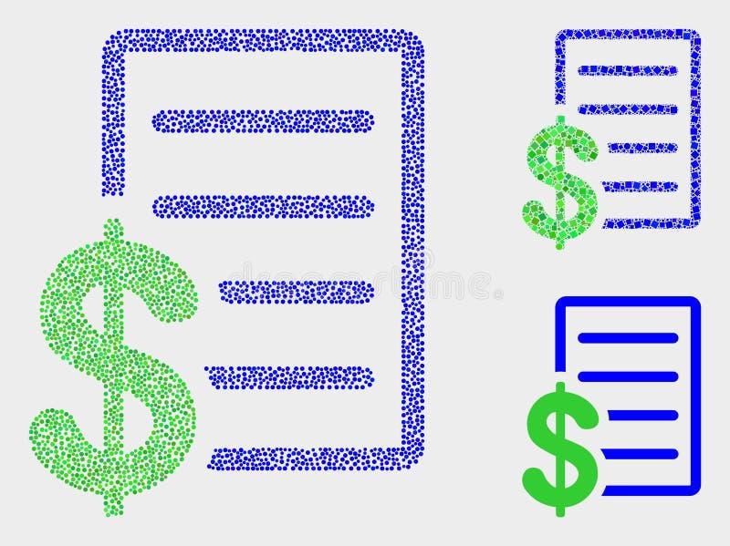 Symboler för lista för Pixelated vektorpris stock illustrationer
