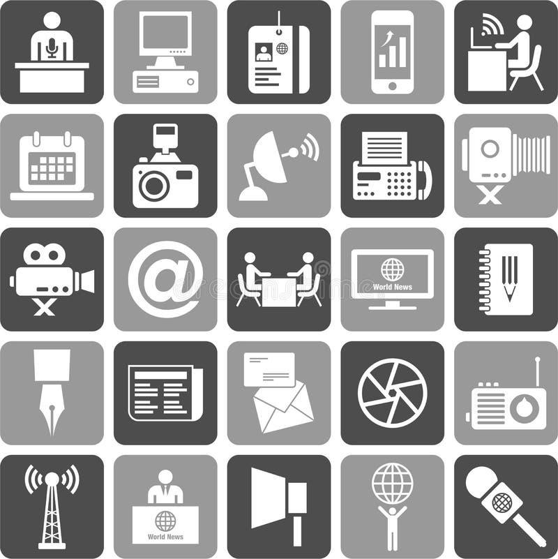 Symboler för Mass medel stock illustrationer