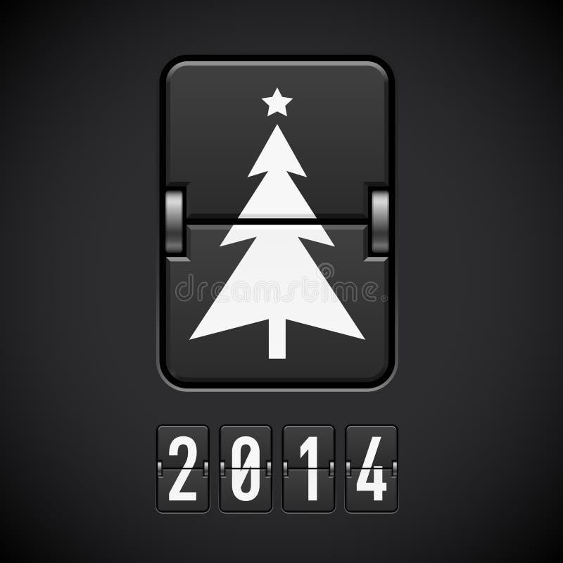 Symboler för nytt år på funktionskortet. vektor illustrationer