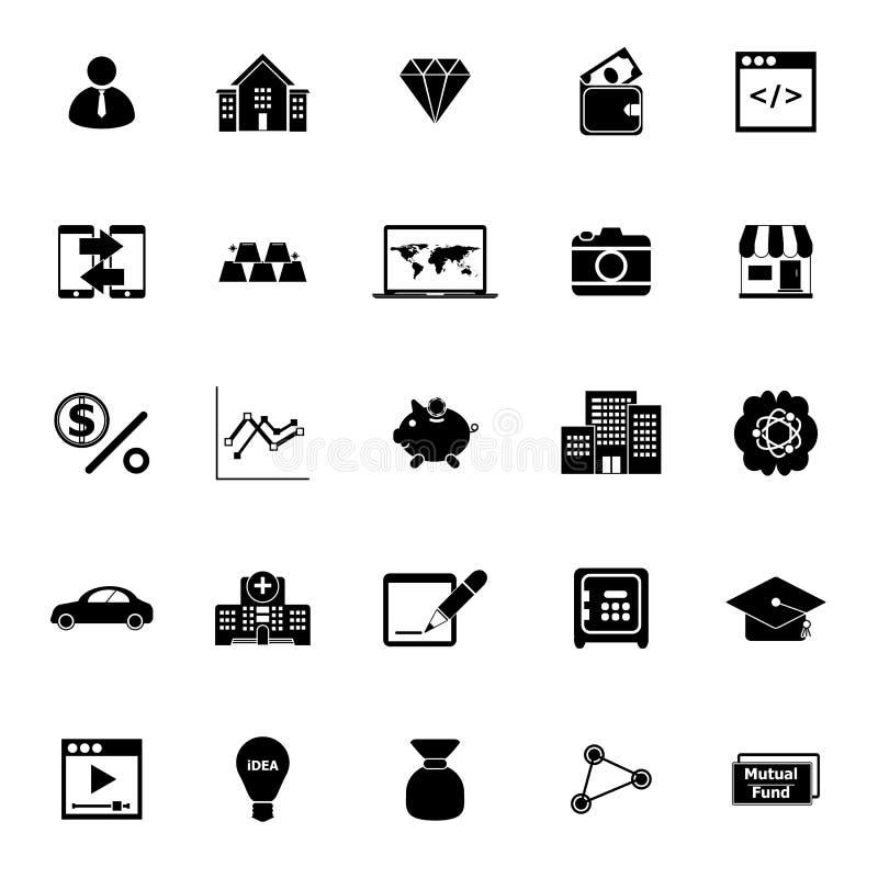 Symboler för passiv inkomst på vit bakgrund vektor illustrationer