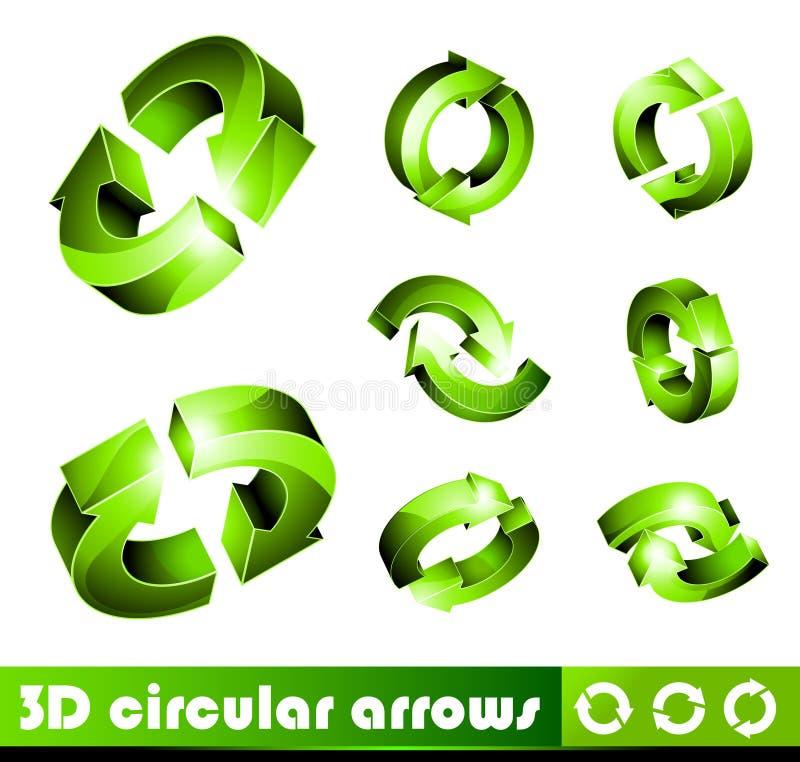 symboler för pilar 3d stock illustrationer