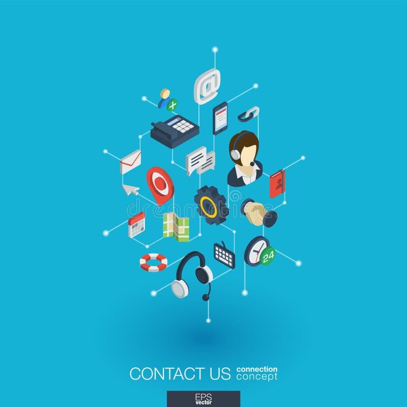 Symboler för rengöringsduk 3d för service inbyggda Isometriskt begrepp för Digitalt nätverk royaltyfri illustrationer