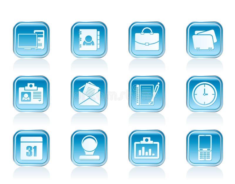 Symboler för rengöringsdukapplikationer, affärs- och kontors, universella symboler stock illustrationer