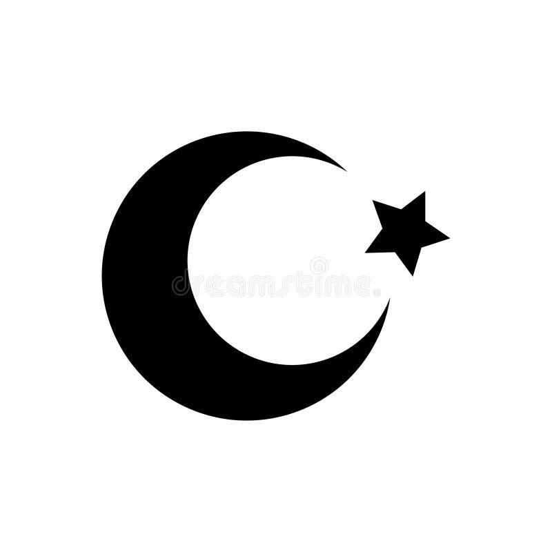 Symboler för skåra för vektor för kultur för religion för islam för natt för Ramadanmånestjärna turkiska Redigerbar slagl?ngd och vektor illustrationer