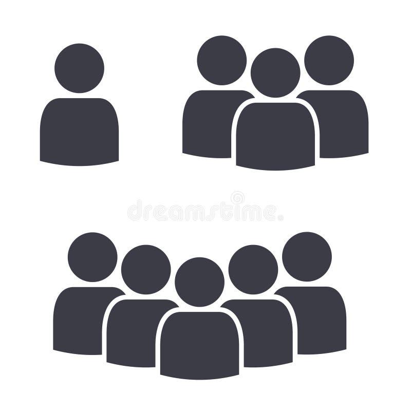 Symboler för symbol för lag för personfolkfolkmassa royaltyfri illustrationer