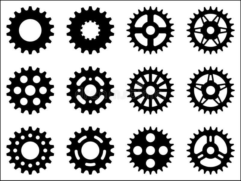 Symboler för tandhjulhjul fotografering för bildbyråer