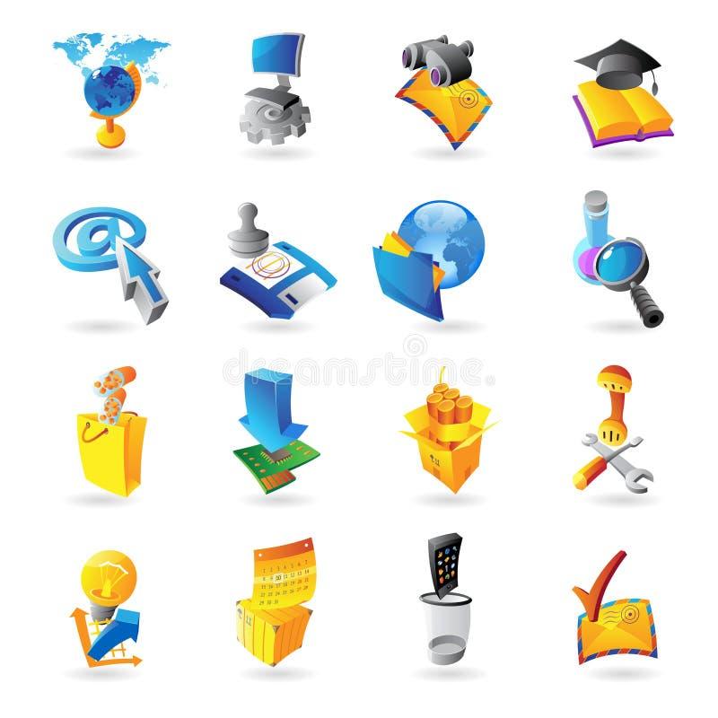 Symboler för teknologi royaltyfri illustrationer