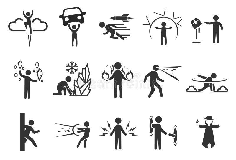 Symboler för toppen hjälte vektor illustrationer