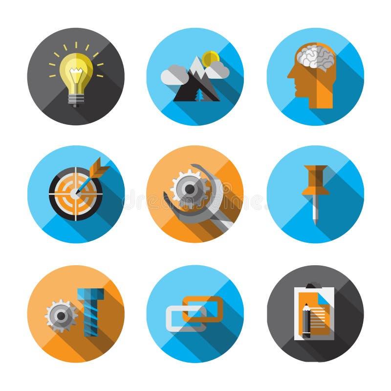 Symboler för universell lägenhet för rengöringsduk vektor illustrationer