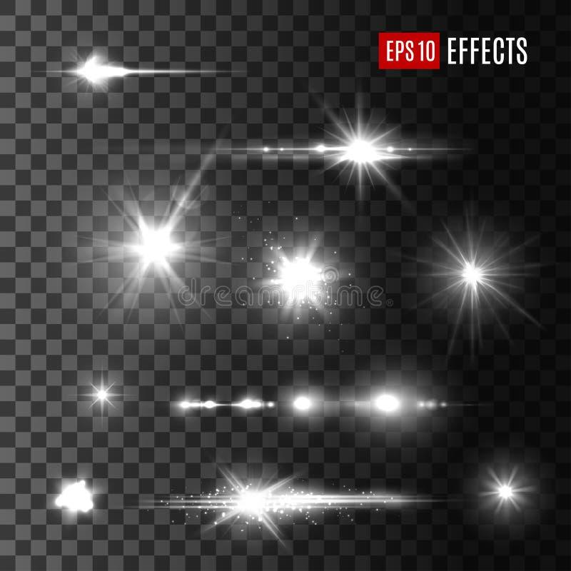 Symboler för vektor för stjärnaskenljus stock illustrationer
