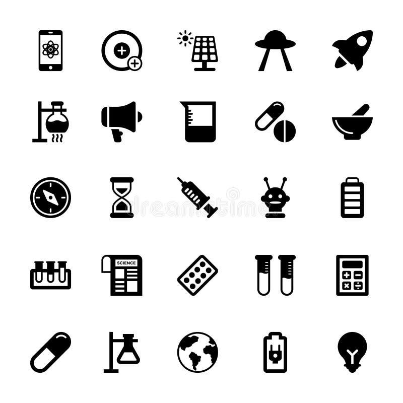 Symboler 7 för vetenskap och teknikskåravektor royaltyfri illustrationer