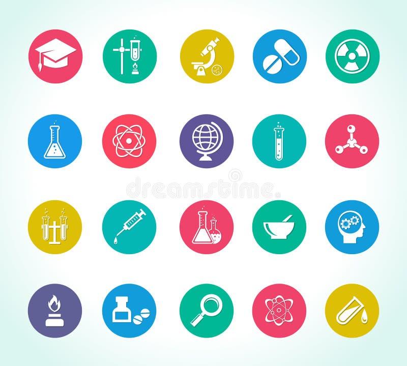 Symboler för vetenskaplig forskning vektor illustrationer