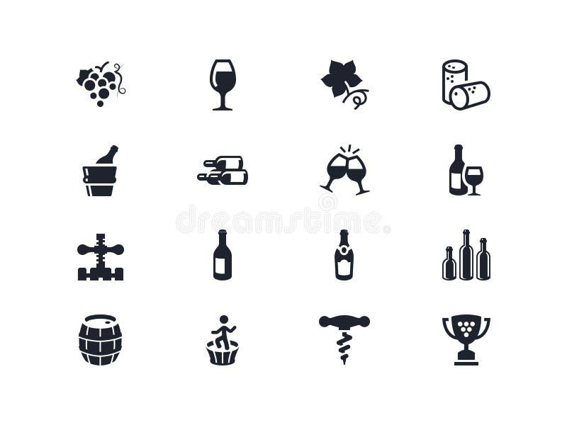 Symboler för vinbransch Lyra serie stock illustrationer