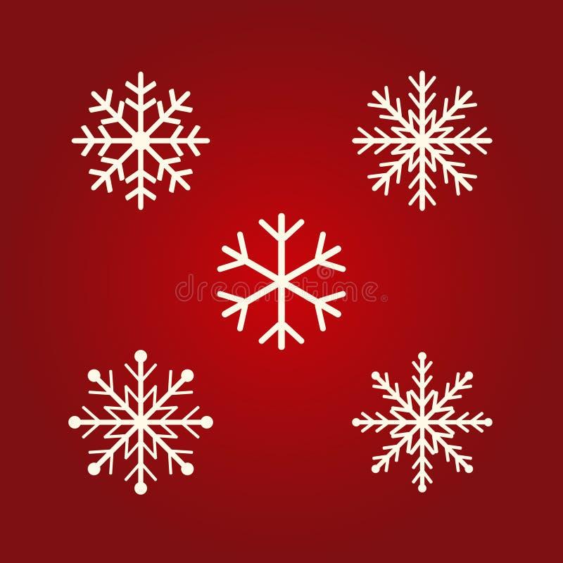 Symboler för vintersnöflingavektor Plant designsymbolsjul och dagbegrepp för nytt år för den grafiska designen, logo, webbplats s vektor illustrationer