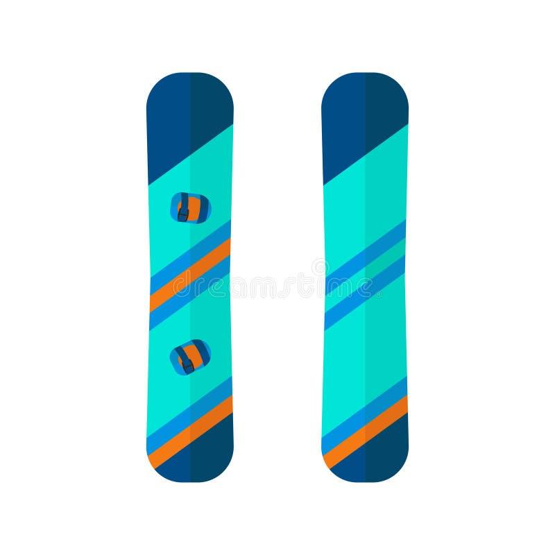 Symboler för vintersport av snowboarden royaltyfri illustrationer